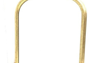 Large late 20th century gilt framed over mantel mirror,...