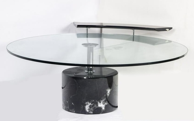 Modern Italian Catelan glass top marble cocktails table
