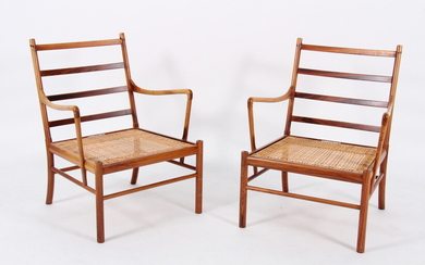 Ole Wanscher. A pair of vintage 'Colonial Chairs', Model PJ149 in rosewood (2)