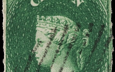 PENCE ISSUES - 2D GREEN, WATERMARK LARGE STAR, UNOFFICIAL ROULETTE, USED