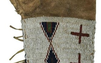 """Nice 12"""" Sioux Beaded Sleeve. Leather with fully"""