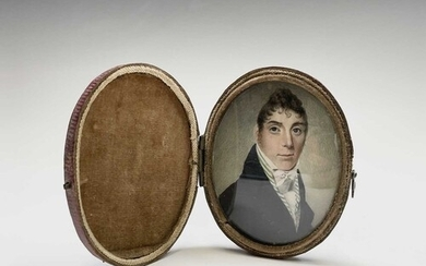 Portrait miniatures A finely painted early 19th century port...