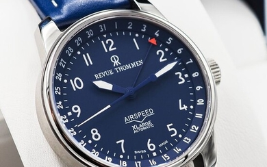 """Revue Thommen - Airspeed Date Pointer Automatic - """"NO RESERVE PRICE"""" 16050.2535 - Men - 2011-present"""