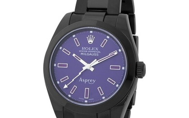 Rolex. Special and Limited Edition to 50 Pieces Milgauss Bamford Wristwatch in Black PVD-Coating, Reference 116 400, Retailed by Asprey