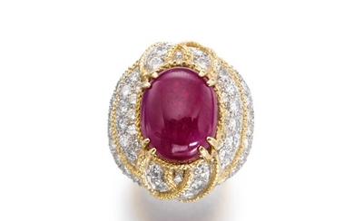 Ruby and diamond ring, 1960s