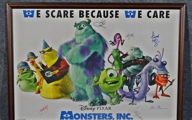 SIGNED MONSTERS, INC. POSTER