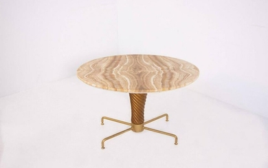 Table by Mario Quarti in Onyx and Brass 1950s