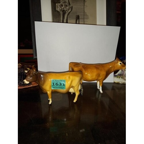 """Two Beswick Jersey Cow's """"Newtown Tinkle"""" and antoehr signed..."""