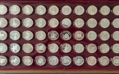 United States. Medals 1970 'State of the Union Governor's Edition Set' (50 pieces) in sterling silver