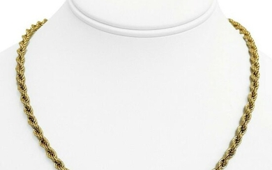 14k Yellow Gold 12.1g Light Hollow 5mm Rope Chain