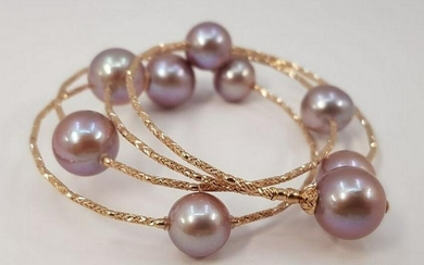 18 kt. Rose gold - 10x11.5mm Round Edison Pearls