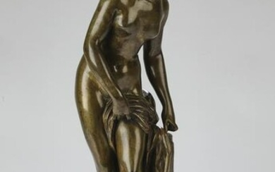 19th c. French bronze 'Baigneuse,' after Falconet