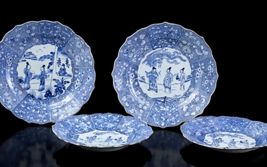 (-), 2 Chinese porcelain dishes with 2 different...