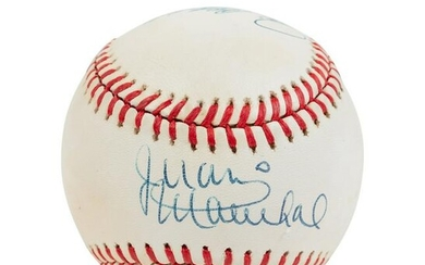 A Hall of Fame No Hitter Pitchers Multi-Signed
