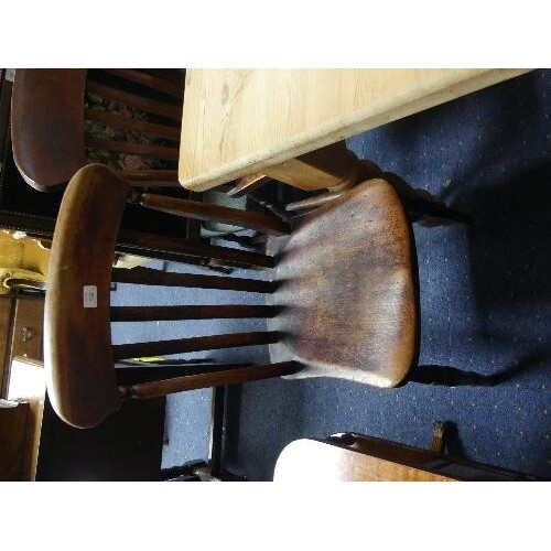 A near matched set of seven provincial oak Dining Chairs, wi...