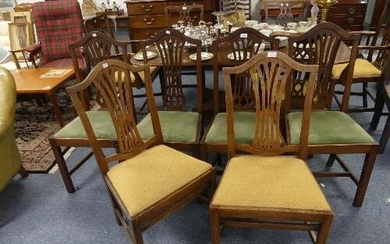 A set of four Georgian-style dining chairs, together with a ...