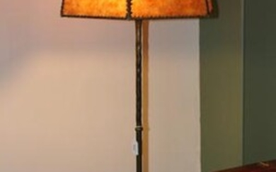Arts & Crafts Style Floor Lamp with Mica Shade
