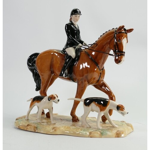 Beswick large tableau figure group The Hunt: limited edition...