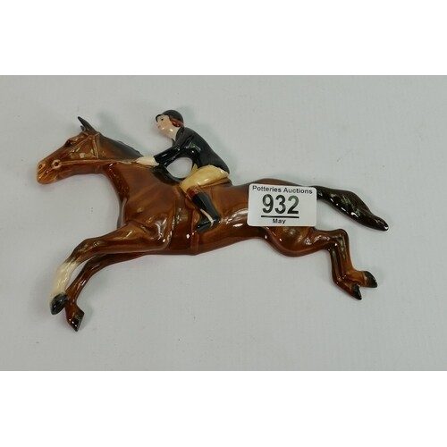 Beswick wall plaque as huntswoman on jumping horse: 1515.