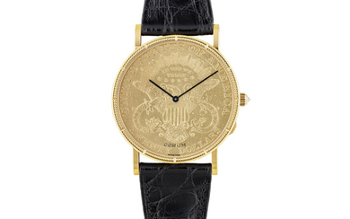CORUM, LIMITED EDITION 20$ GOLD COIN WATCH, NO.95/125