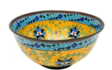 Chinese Cloisonne Enamel Bowl, 18th Century