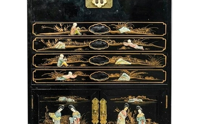 Chinese Cutlery Cabinet Chest