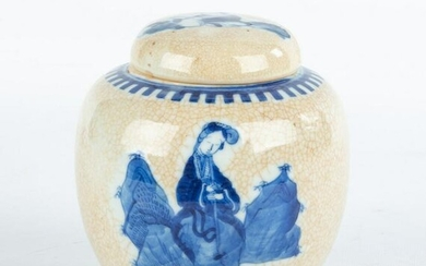 Chinese Porcelain Hand Painted Ginger Jar