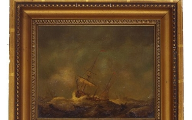 Circle of Peter Monamy (1681-1749) - frigate and other vesse...