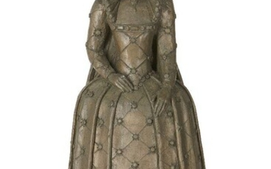 Donated to the Royal Society of Sculptors: Pam Taylor FRBS, British 1929-2014 - Merrydown / Queen Elizabeth at Tilbury, 1989; glazed ceramic with marble base, inscribed with signature and date, H25.5 X W14.5 x D13.5 cm including base (ARR)