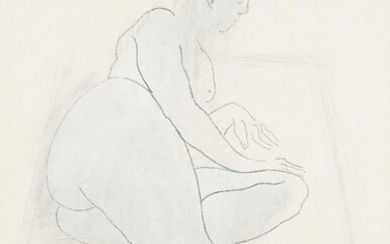 Donated to the Royal Society of Sculptors: Pauline Wittka-Jezewski MRSS, British b.1967 - Reclining Nude Study, 1988; charcoal on paper, signed and dated lower right, 55.5 x 39 cm, inscribed on the reverse 'cat. no. 97-2 for RBS 17-7-97': together...
