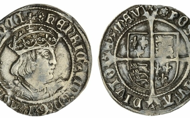 Henry VIII (1509-1547), Second Coinage, Groat, 1526-1544, reads FRANCE