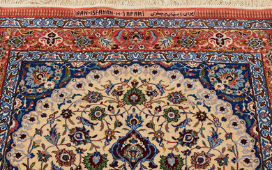 ORIENT CARPET, Isfahan, signed, silk.