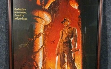 SIGNED INDIANA JONES & THE TEMPLE OF DOOM POSTER