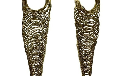 Vintage H. Stern Yellow Gold and Quartz Dangle Earrings
