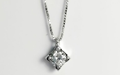18 kt. Gold - Necklace with pendant Diamond