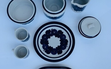 8 Hand Painted Serving Dishes by Ulla Procope, Arabia