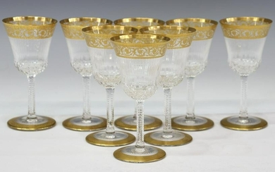 (8) SAINT LOUIS CRYSTAL 'THISTLE' SHERRY GLASSES