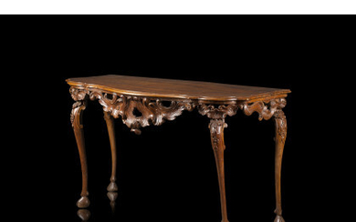 A 18th-century Venetian walnut console table (cm 152x85x67) (defects)Read more