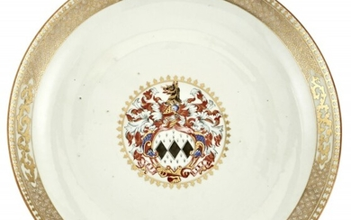 A Chinese Armorial Porcelain Charger