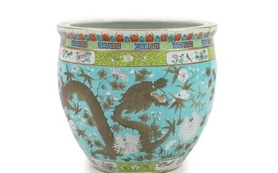 A Chinese famille rose fish bowl, late 19th/early 20th cen...