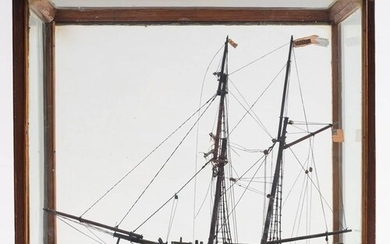 A late 19th/early 20th century model of the schooner 'Anne'...