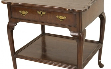 A mahogany Queen Anne-style game table/ side table, Dutch, 18th century.