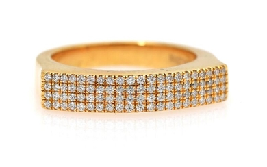 NOT SOLD. A ring set with numerous brilliant-cut diamonds weighing a total of app. 0.27 ct., mounted in 18k gold. H-I/VVS. Size 53. – Bruun Rasmussen Auctioneers of Fine Art