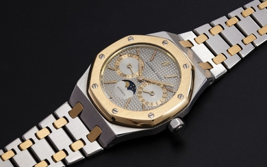 AUDEMARS PIGUET, A TWO-TONE DAY-DATE WITH MOON-PHASE, REF. 25594SA