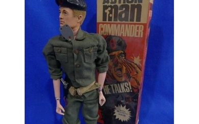 Action Man; A boxed early 1970's Commander 'He Talks' Figure...
