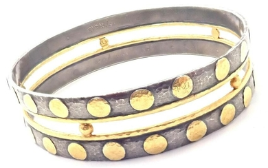 Authentic! Gurhan Deco 24k Yellow Gold Sterling Silver