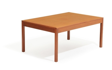 NOT SOLD. Børge Mogensen: A mahogany coffee table. Manufactured by Fredericia Stolefabrik, 1985. H. 54....