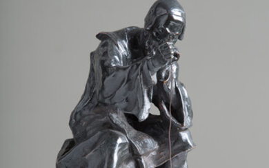 Bronze sculpture on a marble base. 19th century