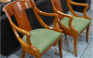 DINING CHAIRS, a set of four, contemporary cherrywood, 87cm ...