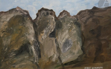 Dirk BOS (1890-1976)Mount SinaiOilon panel.Signed and titled in Dutch lower right.78 x 98 cm